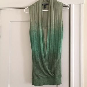 NWOT INC Green Ombre Sleeveless Top